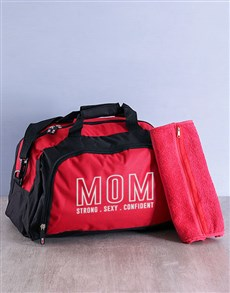 gifts: Personalised Mom Gym Bag Kit!