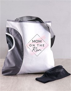 gifts: Personalised Mom On The Run Bag Hamper!