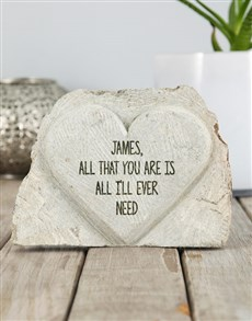 gifts: Personalised All That You Are Stone Heart!