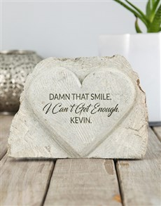 gifts: Personalised That Smile Stone Heart!