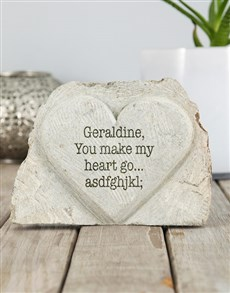 gifts: Personalised You Make My Heart Stone Heart!
