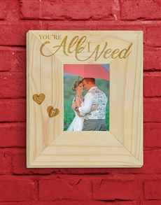 gifts: Personalised All  I Need Photo Frame!