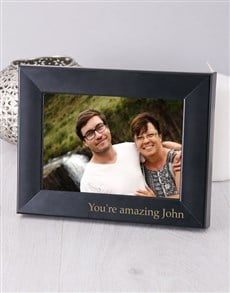 gifts: Personalised Black Photo Frame!