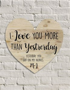 gifts: Personalised Love You More Wall Art!