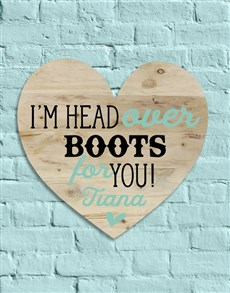 gifts: Personalised Head Over Boots Wall Art!