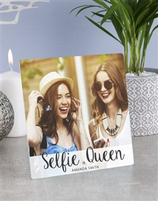 gifts: Personalised Selfie Queens Glass Tile!