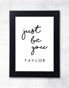 gifts: Personalised Just Be You Frame!