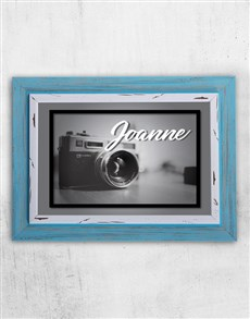gifts: Personalised Vintage Camera Frame!