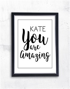 gifts: Personalised You Are Amazing Frame!