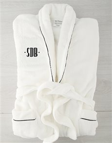 gifts: Personalised Dot Monogram Fleece Gown with Piping!