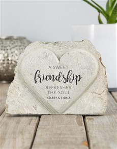 gifts: Personalised Sweet Friendship Stone Heart!