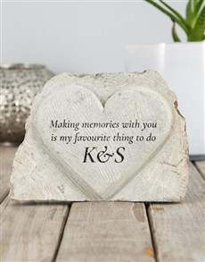 gifts: Personalised Making Memories Stone Heart!