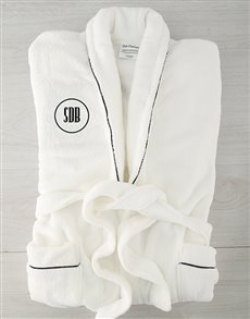 gifts: Personalised Circle Monogram Fleece Gown!