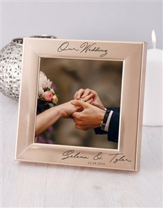 gifts: Personalised Wedding Photo Frame!