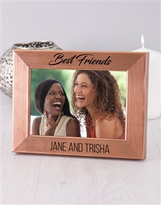 gifts: Personalised Best Friends Gold Photo Frame!