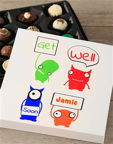 flowers: Personalised Get Well Soon Tray!