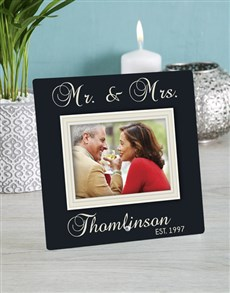 gifts: Personalised Mr and Mrs Glass Tile!