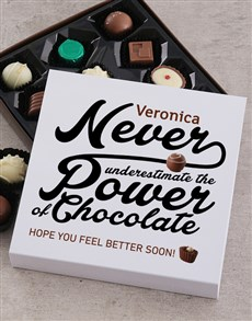 flowers: Personalised Feel Better Choc Tray!