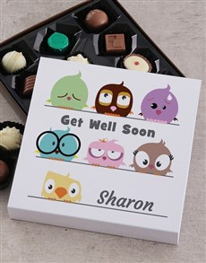flowers: Personalised Get Well Chocolate Tray!