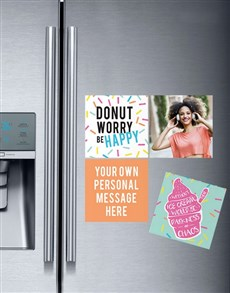 gifts: Personalised Doughnut Magnets!