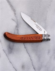 gifts: Personalised Alpage Bubinga Pocket Knife!