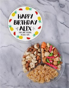 gifts: Personalised Birthday Fruit & Nut Tub!
