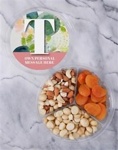 gifts: Personalised Botanical Fruit & Nut Tub!