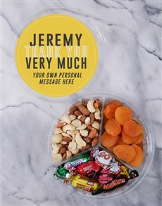 gifts: Personalised Thank You Fruit & Nut Tub!