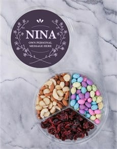 gifts: Personalised Elegant Fruit & Nut Tub!