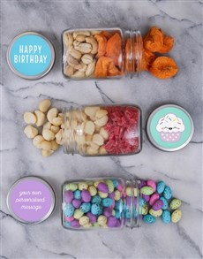 gifts: Personalised Cupcake Fruit and Nut Jar Trio!