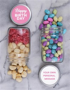 gifts: Personalised Happy Fruit and Nut Jar Set!
