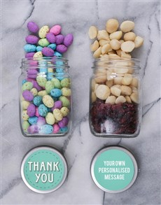 gifts: Personalised Thanks Fruit and Nut Jars!