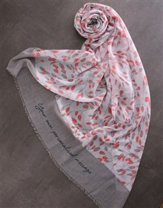 gifts: Personalised Colourful Floral Scarf!