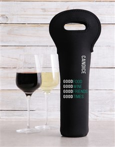 gifts: Personalised Good Day Wine Carrier!