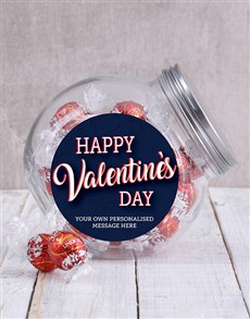 gifts: Personalised Happy Valentines Candy Jar!