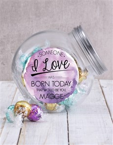 gifts: Personalised Someone Special Birthday Candy Jar!