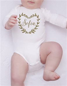 gifts: Personalised Glitter Wreath Onesie!