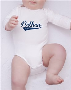 gifts: Personalised Baseball Est Onesie!