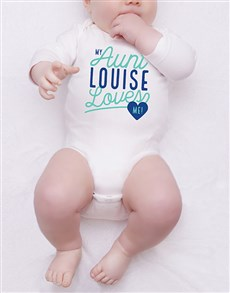 gifts: Personalised Aunt Loves Me Onesie!