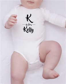 gifts: Personalised Initial and Name Onesie!