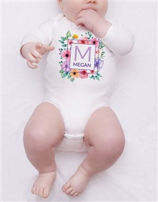 gifts: Personalised Floral Wreath Onesie!