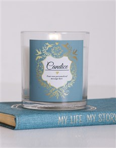 gifts: Personalised Vintage Shield Candle!