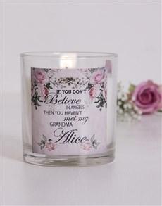 gifts: Personalised Vintage Grandma Candle!