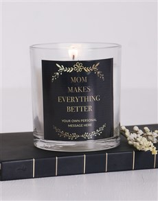 gifts: Personalised Makes Everything Brighter Candle!