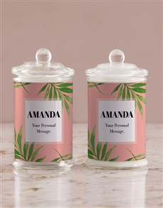 gifts: Personalised Bold Leaf Candle Jar!