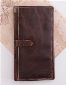 gifts: Personalised Leather Travel Wallet!