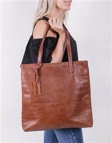gifts: Personalised Leather Tote Bag!
