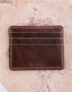 gifts: Personalised Leather Slim Wallet!