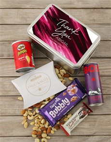 gifts: Personalised Thank You Purple Snack Tin!