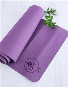 gifts: Personalised Yogasm Mat!